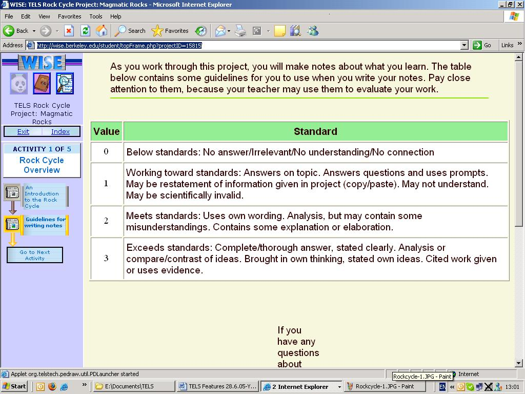 view principle detail standards table guidelines for writing notes